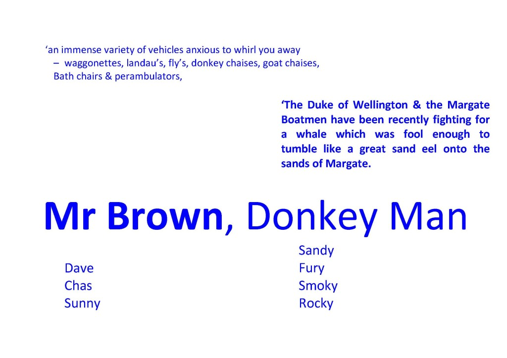Mr Brown led the donkeys on Margate Sands for years...