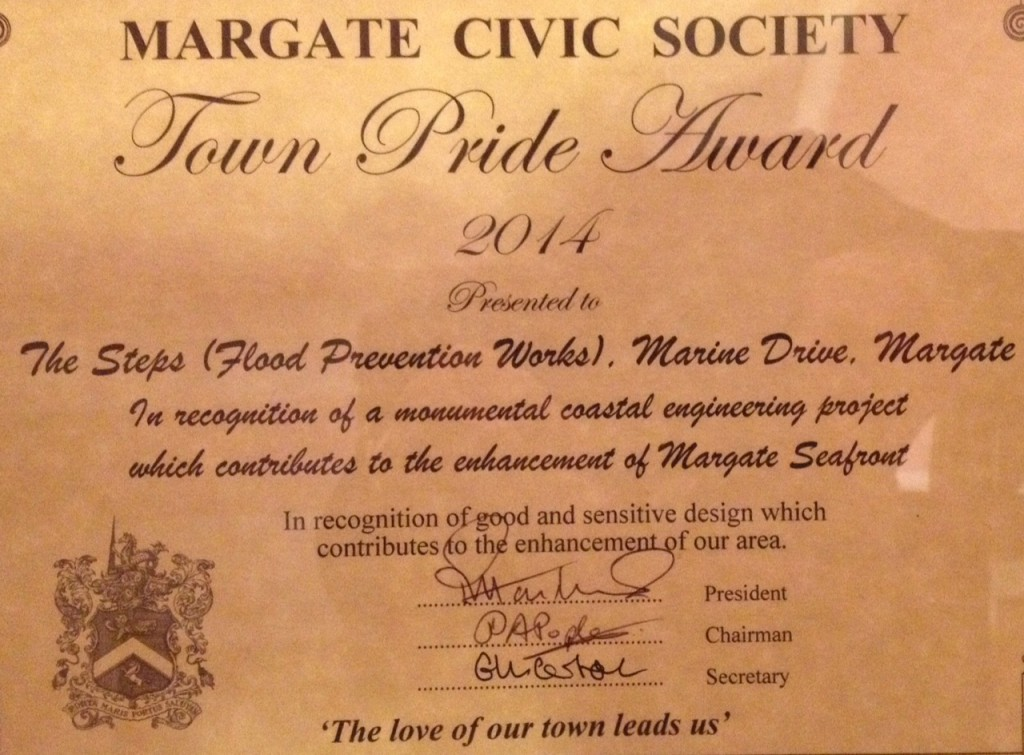 Margate Civic Society, Town Pride Award 2014