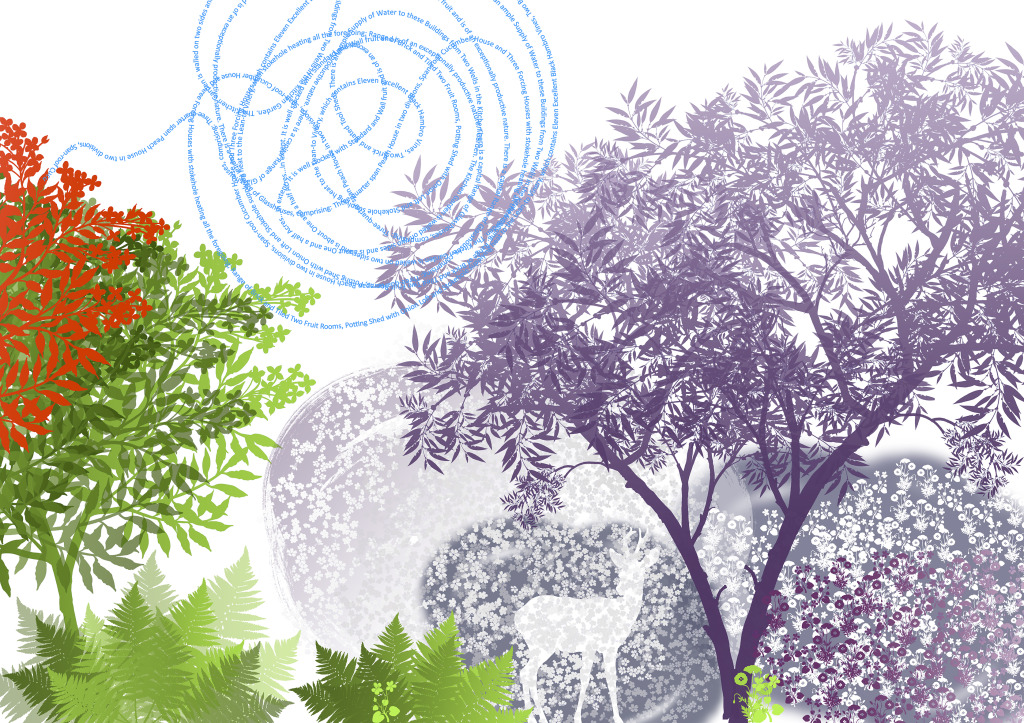 Draft Print 3 - Each tree design was used for the Large Meeting Room. It will be paired with Draft Print 4