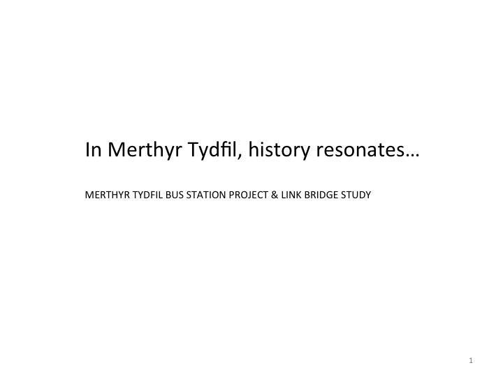 Merthyr Tydfil Bus Station Project. Contextual research presentation. Artist: Christopher Tipping