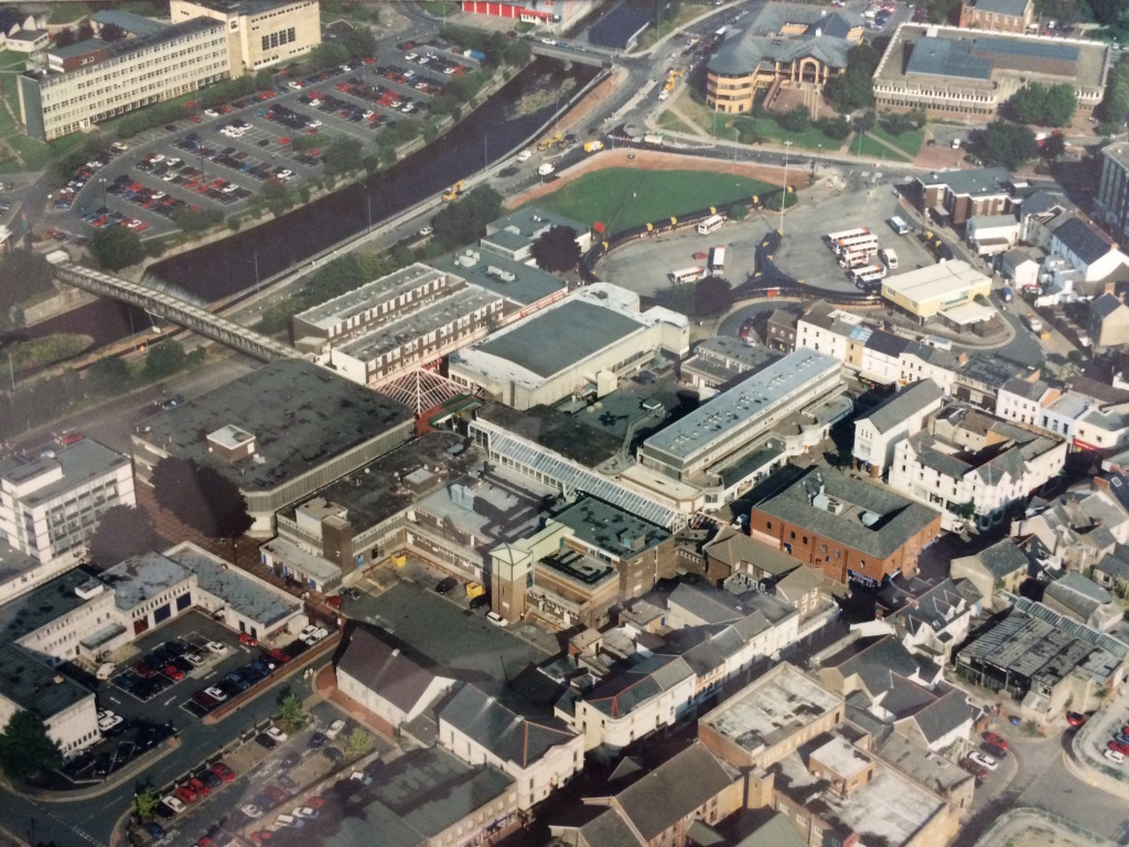 Merthyr Tydfil Town Centre, circa 1980. Image:  By permission of St Tydfil's Shopping Centre Manager.