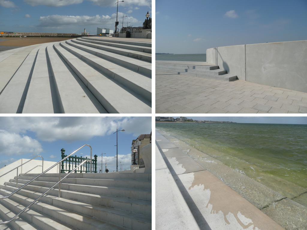 Margate Coastal Flood & Protection Project aka Margate Steps. Margate, Kent. Image: Christopher Tipping