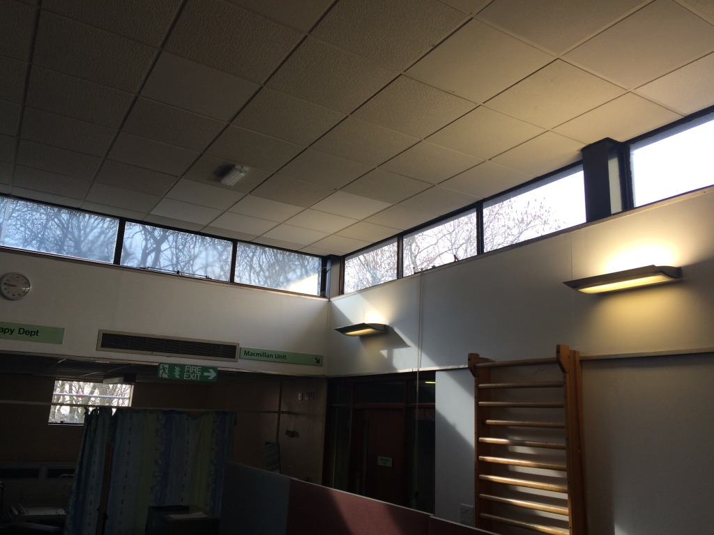 Interior of the Ladysmith Building, Tameside Hospital, prior to refurbishment. Image: Christopher Tipping
