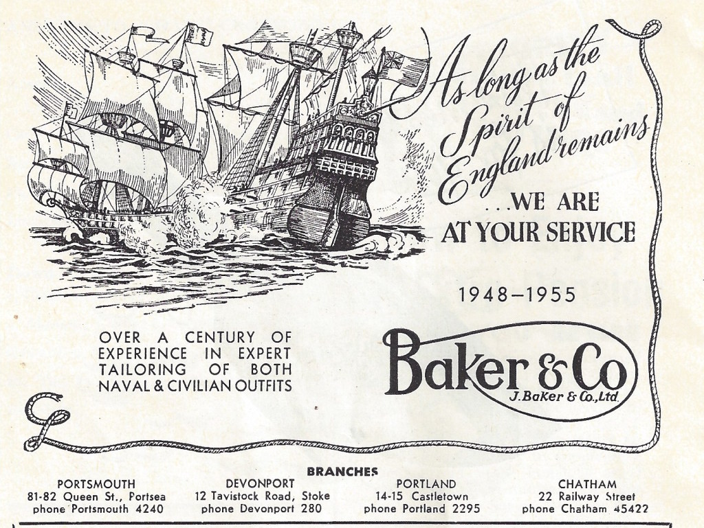 Military Outfitters, Baker & Co. 22 Railway Street, Chatham. CHATS Magazine. Collection of Christopher Tipping