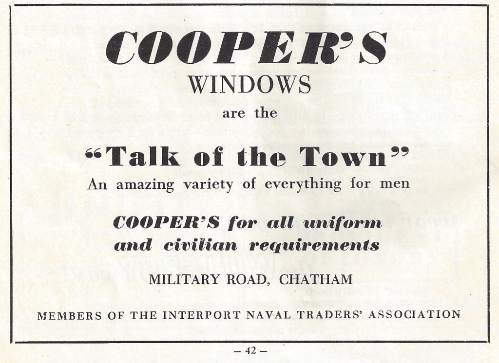 Coopers Windows are the Talk of the Town. CHATS Magazine Vol 8 April 1955 No 2. Collection fo Christopher Tipping