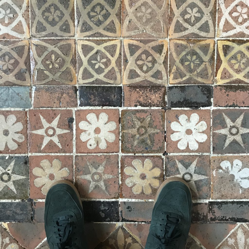 Medieval Tiles Pavement in Winchester Cathedral. Image: Christopher Tipping